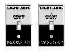Star Wars Choose Wisely vinyl light switch decals by UniqueGraphix, $5.00