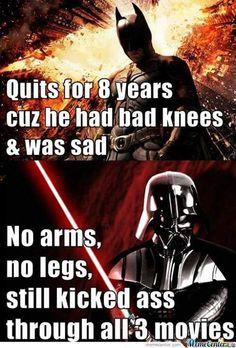 Vader beats Batman! #starwars
