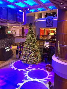 Christmas Decorations on Royal Caribbean's Quantum of the Seas #quantumoftheseas  Read my review of my cruise on Quantum of the Seas here - http://www.scottsanfilippo.com/cruise-reviews/