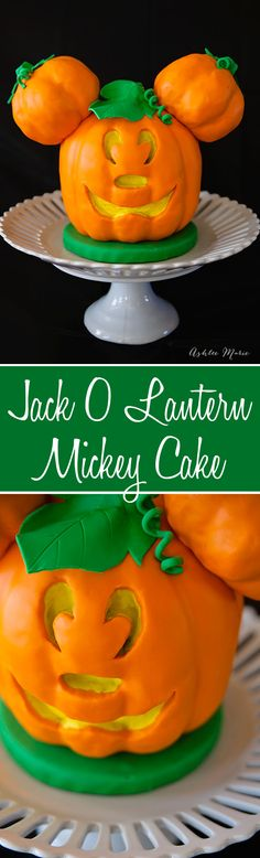 a full tutorial for creating your own disney mickey mouse jack o lantern cake