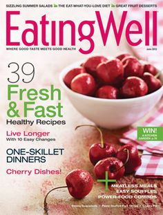 Gorgeous cherries on EatingWell Magazine's May/June 2012 cover! @eatingwell