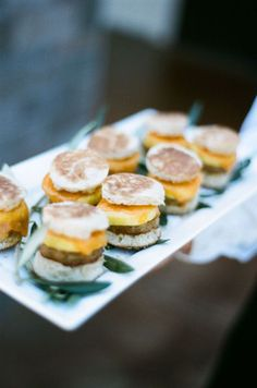 mini sausage & egg biscuits - late night snack