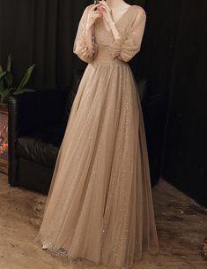 A Line Prom Dresses, Party Dresses For Women, Evening Dresses, Bridesmaid Dresses, Hijab Dress Party, Sequin Party Dress, Elegant Dresses, Pretty Dresses, Formal Dresses