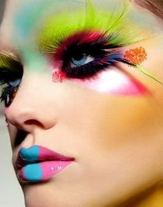Multi Colour makeup