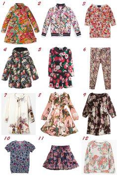 Selección de moda niña otoño 2013 print floral