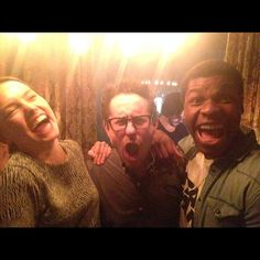 POTD: 'Star Wars Episode VII' Battery Of John Boyega, Daisy Ridley and J.J. Abrams Plus a Cameo #starwars