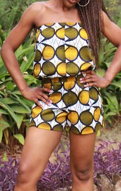 African Print Playsuit by ifenkili on Etsy, $30.00