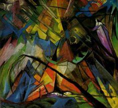 Tableaux sur toile, reproduction de Marc, Tyrol, 135x144cm