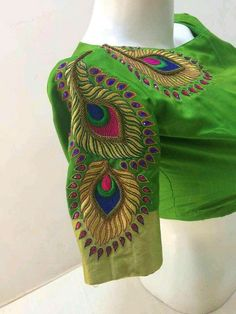 Different Types of Blouse Sleeves Designs - Kurti Blouse Wedding Saree Blouse Designs, Saree Blouse Neck Designs, Fancy Blouse Designs, Saree Wedding, Hand Work Blouse Design, Designer Blouse Patterns, Blouse Models, Lesage, Sarees