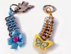 soda can tabs for keychains Soda Tab Crafts, Can Tab Crafts, Aluminum Can Crafts, Ring Crafts, Jewelry Crafts, Pop Top Crafts, Pop Can Tabs, Soda Tabs, Art Du Fil
