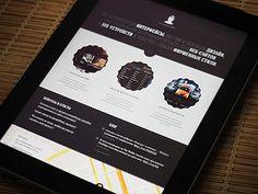 Dribbble - Testing web-page on iPad by Sergey Minkin