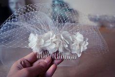 DIY Bridal Blusher Veil : DIY Wedding Accessories DIY Bridal Hair Accessoies