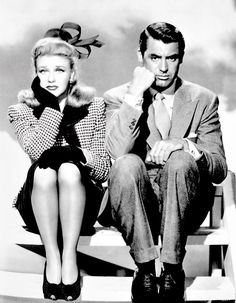 "Ginger Rogers & Cary Grant in ""Once Upon a Honeymoon"" 1942 ♥ This is just such a cute shot."
