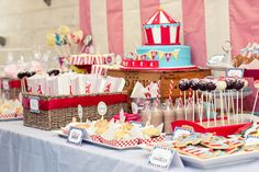 Love the Circus Themed Party, so many things you can do with this one!