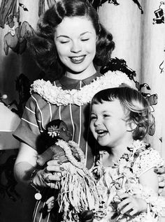 Shirley Temple and her daughter, 1948.