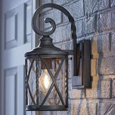 Home Decorators Collection Antique Pewter in. Outdoor Wall Lantern Sconce with Seeded Glass - The Home Depot Garage Lighting, Outdoor Wall Lighting, Lighting Ideas, Outdoor Garage Lights, Exterior Garage Lights, Kitchen Lighting, Rustic Lighting, Lighting Store, Club Lighting