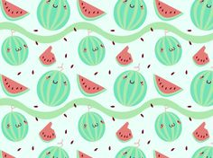 """Watermelony"" by GabsGiggles Fruit, Watermelon"