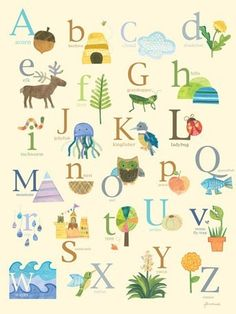 Rosenberry Rooms has everything imaginable for your child's room! Share the news and get $20 Off  your purchase! (*Minimum purchase required.) Nature's Alphabet Canvas Wall Art #rosenberryrooms