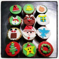 Cupcakes natalinos!!