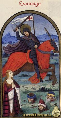 Imagen del Rimado de la Conquista de Granada, Santiago - Obra - ARTEHISTORIA V2