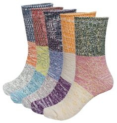 Women's Lady's 5 Pack Multicolor Cotton Socks * This is an Amazon Affiliate link. Want additional info? Click on the image.