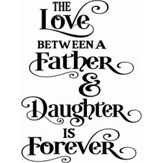 Silhouette Design Store: love between a father & daughter title