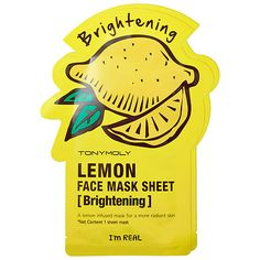 I'm Real - Lemon Face Mask Sheet - Brightening (2 pack) - Tony Moly | Sephora