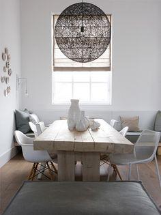 dark string light, pale table