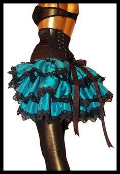 Burlesque bustle skirt