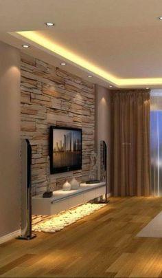 Meuble Tv Angle, Living Room Tv Unit, Living Room Decor, Living Room Designs, Be. Bedroom Tv Unit Design, Living Room Tv Unit Designs, Tv In Bedroom, Bedroom Decor, Modern Bedroom, Decor Room, Tv Wall Unit Designs, Tv Unit Furniture Design, Bedroom Sofa