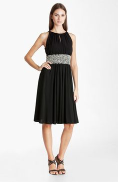 JS Boutique Embellished Ruched Jersey Dress available at #Nordstrom