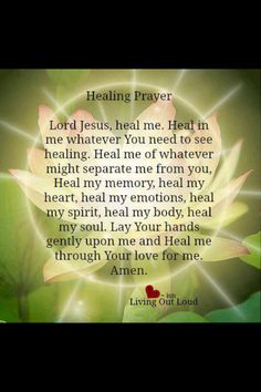Heal me of whatever might separate me from you.