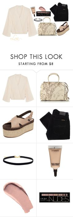 """""""Going on a date?"""" by queenoffuckingeverithing ❤ liked on Polyvore featuring Alice + Olivia, Alviero Martini 1° Classe, Paloma Barceló, Nudie Jeans Co., MAC Cosmetics, Burberry and Charlotte Russe"""