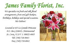 For the Bride, Groom and bridal party contact James Family Florist for your wedding on St. Croix VI for that special day – elegant floral arrangements, bouquets and boutonnieres http://issuu.com/stcroixcaribbeanweddings/docs/stcroixcaribbeanweddings2013/c/sp5rzre #ClippedOnIssuu via @Issuu #bride #wedding #bride #weddingflowers  #caribbean #virginislands #flowershop
