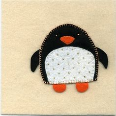 penguin - felt craft idea