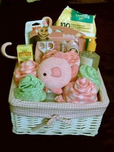 Love it!!   Baby gift basket