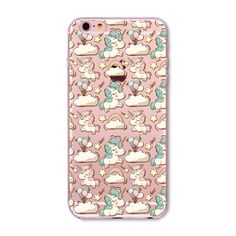 New Cell Phone Cases for Iphone 6 6s Plus 4 4s 5C 5 5s SE 6Plus cute Unicorn animails Case Cover bag soft silicone coque fundas