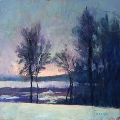 Distant Glow, painting by artist Takeyce Walter