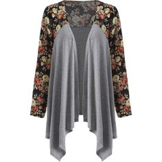 Floral Print Duster Coat ($23) ❤ liked on Polyvore featuring outerwear and coats