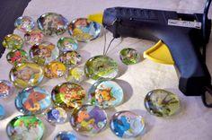 Baby, Kind und Meer: DIY: GLAS-MAGNETE