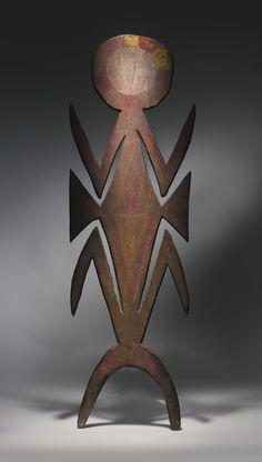 SIANE FIGURAL HEADCREST, EASTERN HIGHLANDS PROVINCE, PAPUA NEW GUINEA Height: 49 1/2 in (126 cm)