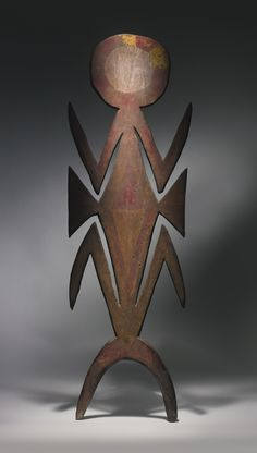 SIANE FIGURAL HEADCREST, EASTERN HIGHLANDS PROVINCE, PAPUA NEW GUINEA Height: 49 1/2 in (126 cm)