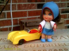 Mattel Babe Biddle Doll With Car Liddle Kiddle 1966-1967 #3505