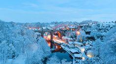 Snow in Knaresborough, England (© Steven Hunt/Alamy)