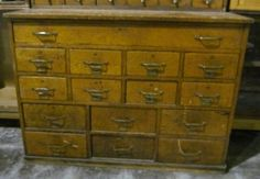 I really want to find an old library card catalog and refinish it