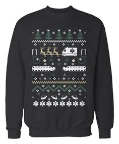 Paramedics and EMTs Job Apparel - The perfect ugly Christmas sweater for Paramedics and EMTs!