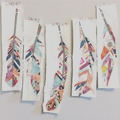 myfabricrelish's dreamcatcherquilt feathers in fleet and flourish fabrics