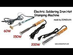 ZONESUN use Handheld Brand Hot Embossed customize leather wood LOGO Stamping Machine branding iron - YouTube