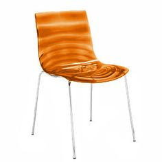 Calligaris L'Eau Dining Chair - 453466 - L'Eau Dining Chair Orange - Order in sets of 2
