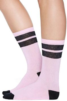Kawaii Stripe Crew Sock nasty gal